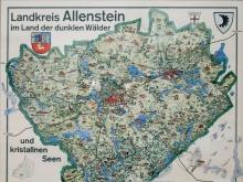 Exponat-Landkarte-Landkreis-Allenstein-1955