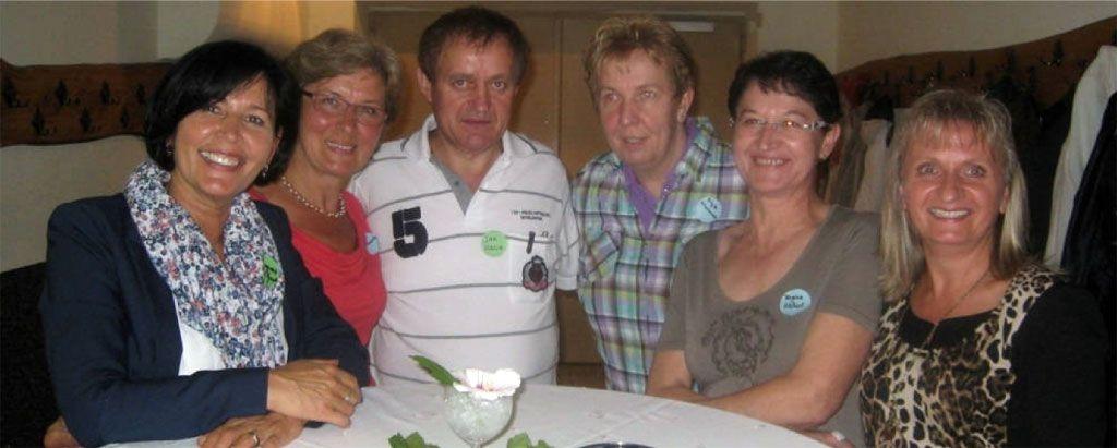 Die Veranstalter des Treffens: v.l.n.r.: Margret Klenner, Luzia Glodek,  Jan August Hacia, Brigitte Scharnowski, Regina Mlottek, Corinna Olejnik