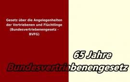 65 Jahre Bundesvertriebenengesetz