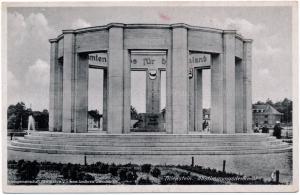 Allenstein Abstimmungsdenkmal, Postkarte aus dem Jahr 1941
