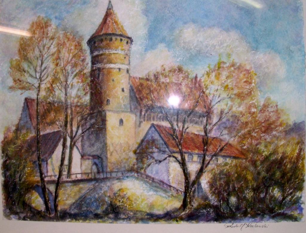 Schloß in Allenstein, Gemälde von Rudolf Koslowski (ehemals Reußen)
