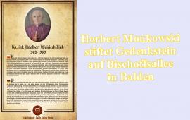 Herbert Monkowski stiftet Gedenkstein