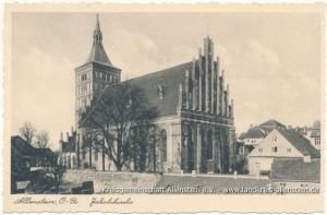 St.-Jakobi-Kirche (Postkarte ungelaufen, ca. 1940)