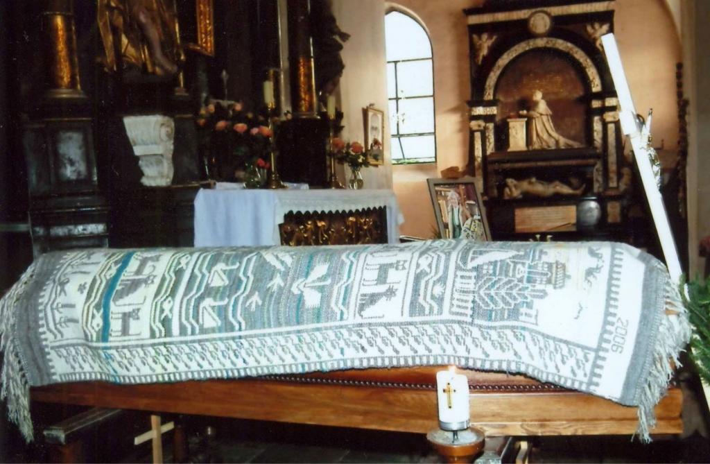Sarg von Barbara Hulanicka aufgebahrt im Andreaskloster in Wartenburg (heute Barczewo)