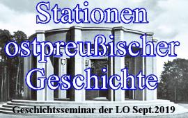 Stationen Ostpreußischer Geschichte